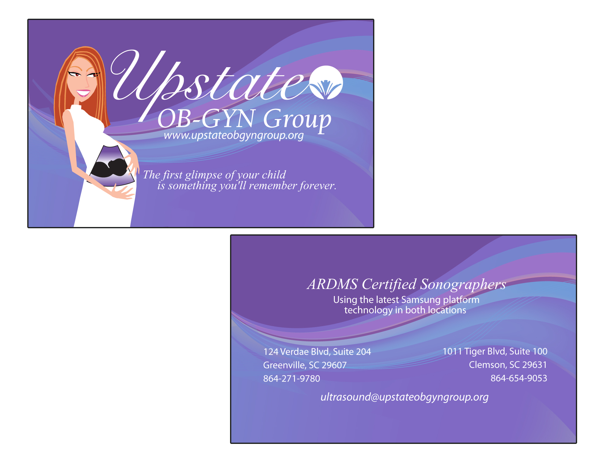 Upstate Ob Gyn Business Card